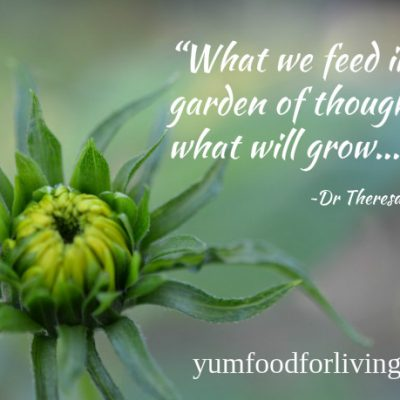 CHOOSE WISELY WHAT YOU GROW IN YOUR GARDEN OF THOUGHTS - Photo by Theresa Nicassio