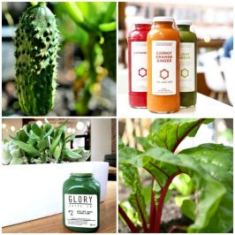 #BecauseYouAsked: To Juice or Not To Juice...That is the Question. Article by Dr. Theresa Nicassio | BLUSH Vancouver Columnist | January 17, 2017 | UL & LR: Veg by Theresa Nicassio | UR: IG @thejuicebox_van | LL: IG @gloryjuice