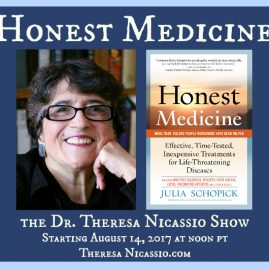 Medical advocate Julia Schopick talks about HONEST MEDICINE & about treatments for life-threatening diseases that most doctors don't know about.