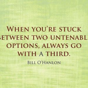Bill O'Hanlon Quote