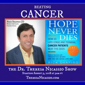 Hear Rick Shapiro share how 20 late-stage & terminal cancer patients beat the odds on The Dr. Theresa NIcassio Show