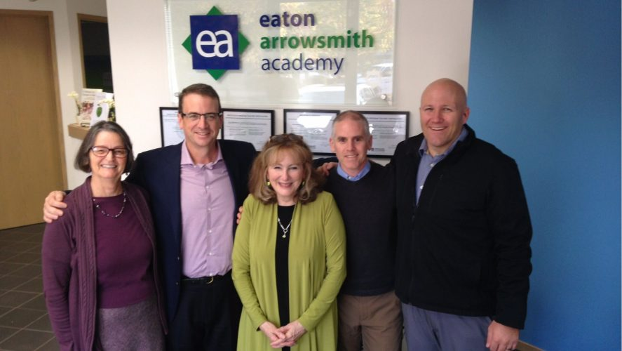 Barbara Arrowsmith with Howard Eaton, Mark Watson and other members of the Eaton Arrowsmith Academy.