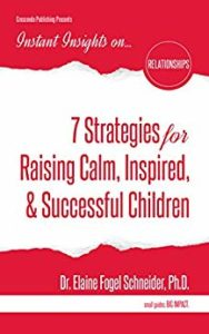 7 Strategies for Raising Calm, Inspired, & Successful Children: Education should touch the whole child. Scientific research has shown that when a child is in a quiet alert state, learning occurs most readily. Our children live in a quick-paced society where taking a moment to be with oneself, and not with a tablet or a smart phone, is not the norm. 7 Strategies for Raising Calm, Inspired, & Successful Children combines the knowledge of neuroscience with a smorgasbord of fun, easy, relaxing, tension-reducing, and awareness-building activities that can be done on a daily basis. Goals will be easier to achieve and success realized when a child can breathe away tension, laugh away hurt, dance away upset, touch away disconnect, affirm to believe, and be mindful to observe, attend to patterns of thoughts, feelings, sensations, and act with awareness. What's more, parents, caregivers, and educators will benefit by using these strategies for their own well-being too.